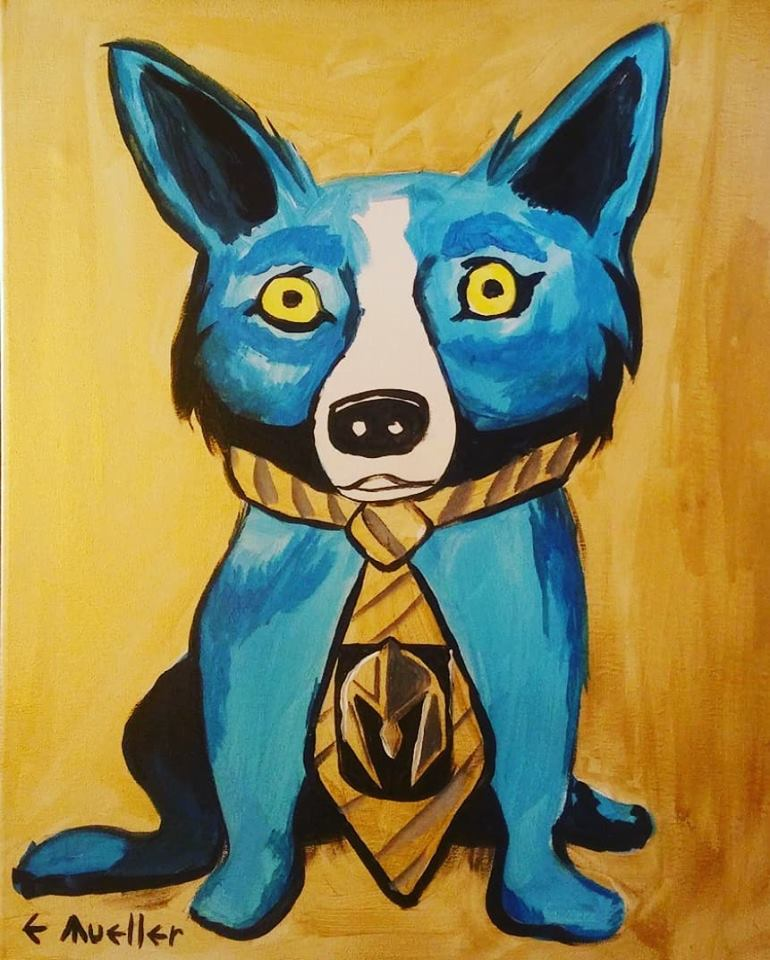 Vegas Golden Knights Blue Dog