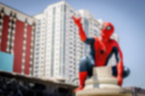Spider superhero party visits in Las Vegas