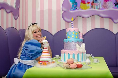Tea princess character visits in Las Vegas