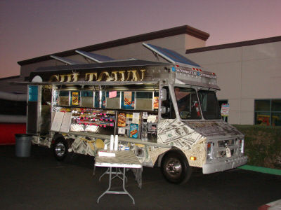 One of many food trucks available