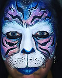 Tiger face painting in Las Vegas