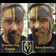 Las Vegas face and body paint for Vegas Golden Knights