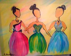 """Fashionistas"" in Acrylic"