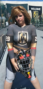 Vegas Golden Knights hockey jersey body paint