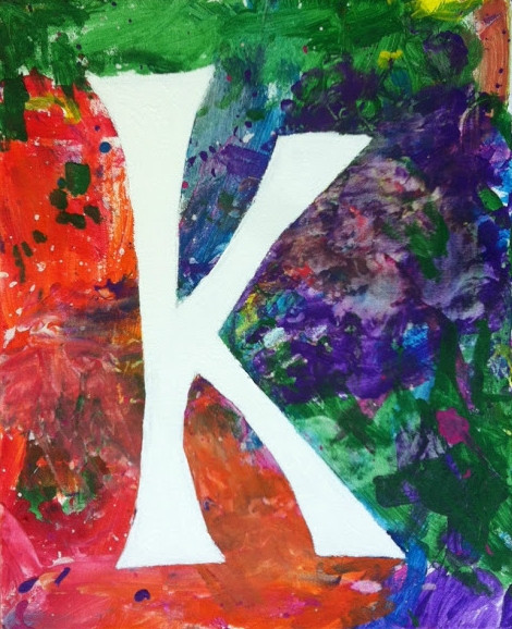 Kids Initial Canvas