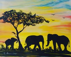 Sunrise Elephants
