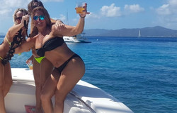 Girls-On-Boat-With-Drinks-In-British-Vir