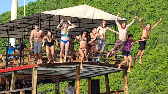 Jumping off the Willy T Norman Island BVI.jpg