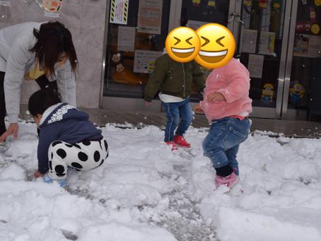 ⛄雪遊び⛄ 福岡県 飯塚市 堀池 飯塚ママー 保育園