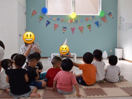 💐8月のお誕生日会🎂 福岡県飯塚市堀池 飯塚ママー保育園 飯塚市で人気な保育園です。