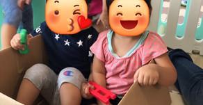 段ボール&ブロック遊び🤩~福岡県飯塚市 幸袋らぶはーと保育園~
