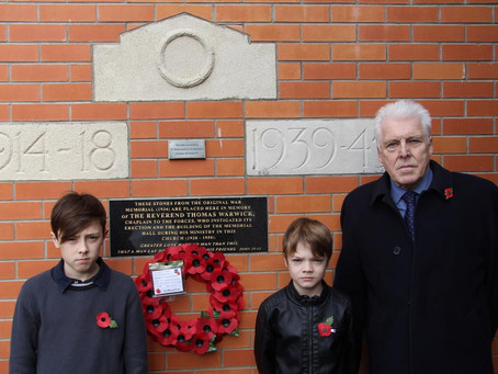 Poppy Wreath Laid at Memorial Hall