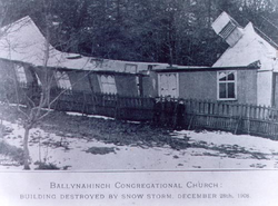 Original building destroyed by snow