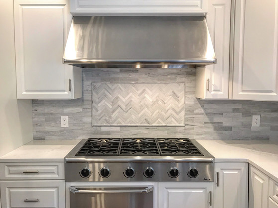 New Marble Kitchen Backsplash