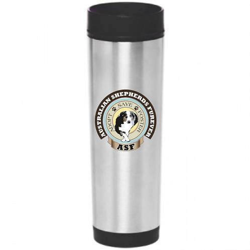 16 oz ASF Stainless Steel Slim Travel Mug