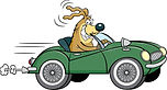 cartoon-dog-driving-convertible-sports-c