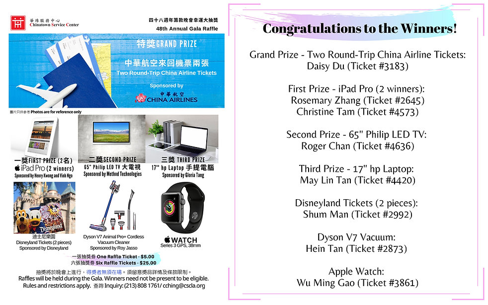 CSC 48th Gala_Raffle Prizes Winners.jpg