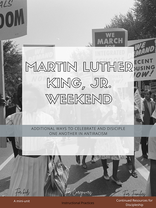 Mini Unit: Preschoolers: Martin Luther King, Jr