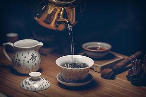 Brewing Tea;hot water