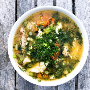 Bone Broth Chicken, Dill & Spring Onion Soup