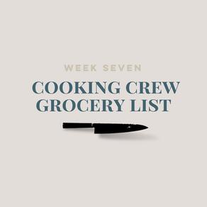 Week Seven Grocery List