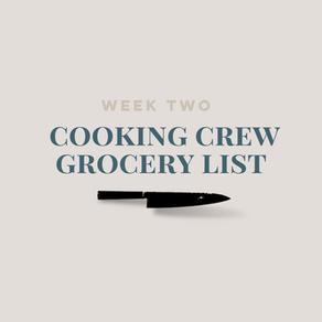 Week Two Grocery List