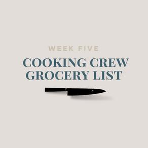 Week Five Grocery List