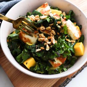 Kale Halloumi Mango Salad