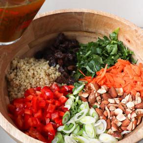 Curried Quinoa Salad w/ Raisins & Toasted Almonds