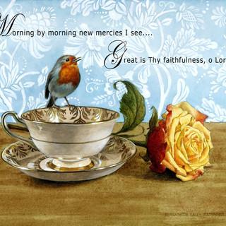 Bird on Teacup