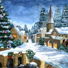 Alexis Snowy Christmas Town 2017