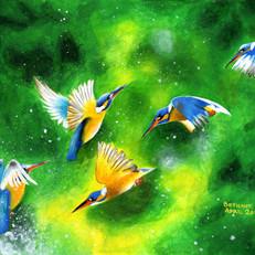 Bethany Flying Blue Birds 2016