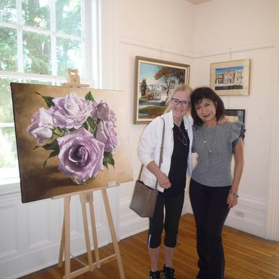 My old schoolmate, Debbie, from the Ontario College of Art