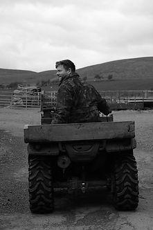 James Bone, Honda Quad Bike, Cheviot Sheep Northumberland