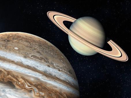 """A """"Grande Conjunção"""" de Júpiter e Saturno"""