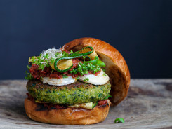 How does your plant-based burger look like?