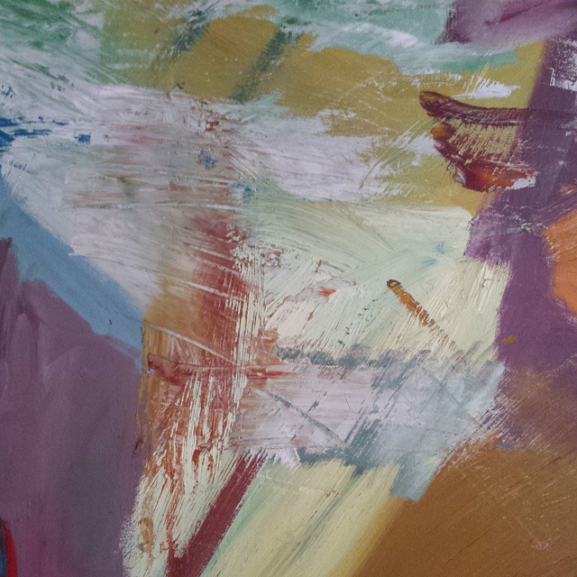 detail #oilpainting #abstract on canvas