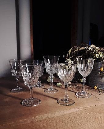 Lot de 6 verres dépareillés