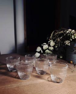 Petits verres à eau