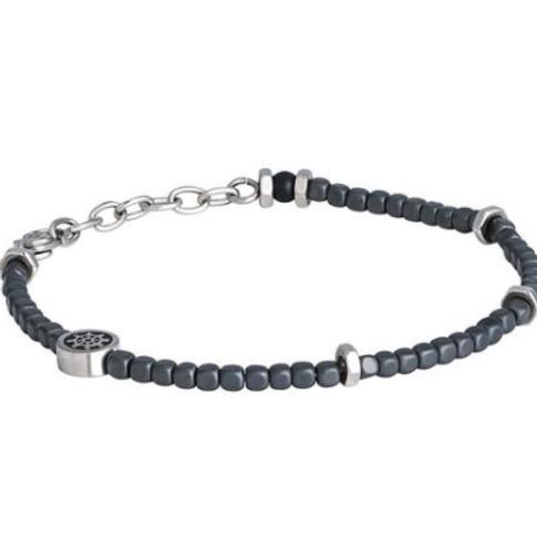 Steel Bracelet and hematite gray