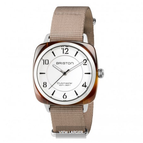 Clubmaster Chic Acetate - HMS tortoise shell white dial
