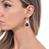 Thumbnail: Hanging earrings with natural pearls and sodalite