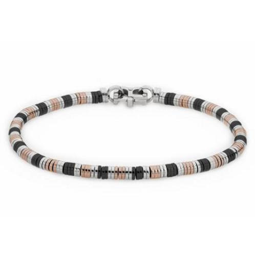 Bracelet tubular steel PVD and bicolor