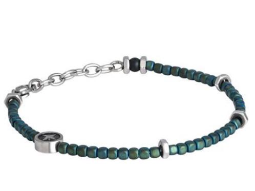 Steel Bracelet and hematite green