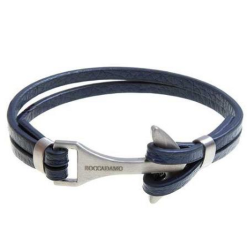 Bracelet double thread in blue leather with closure to Still