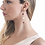 Thumbnail: Drop earrings with natural pearls and smoky Quartz