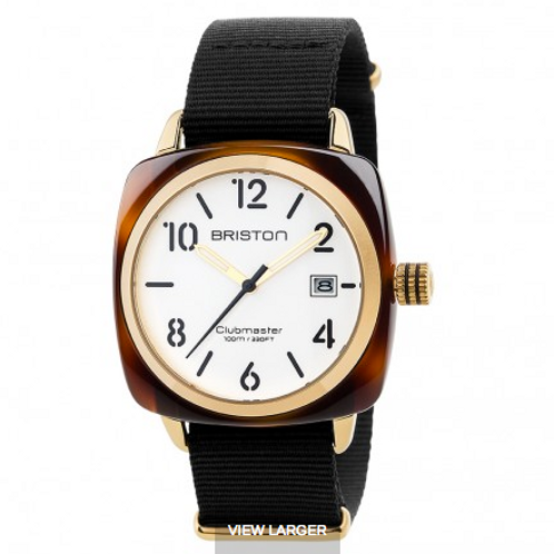 Clubmaster Classic Acetate HMS Gold - white dial and yellow gold