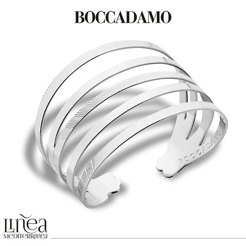 Rhodium-plated bracelet with multi-strand band