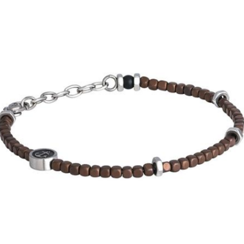 Steel Bracelet and hematite brown