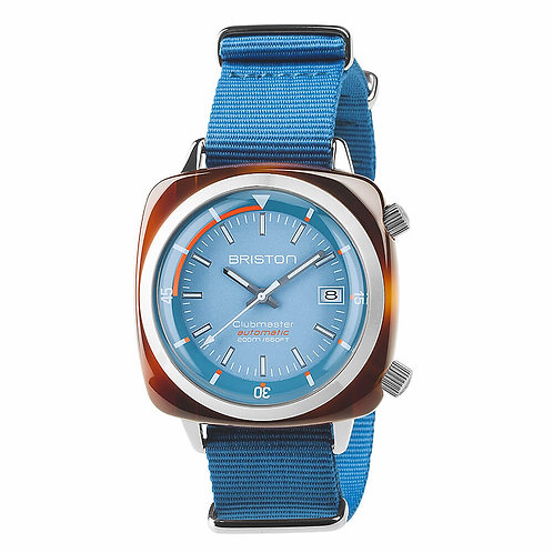 HMS AUTOMATIC TORTOISE SHELL, LIGTH BLUE DIAL AND LIGTH BLUE NATO STRAP